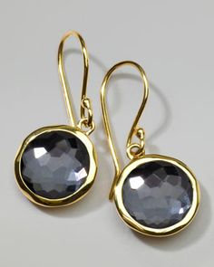 Hematite Lollipop Earrings, Mini by Ippolita at Neiman Marcus.