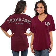 Texas A&M Aggies Women's Spirit Jersey Oversized T-Shirt - Maroon