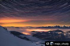 Hviezdny Chopok  #praveslovenske od @majo_chudy  Chopok #night #nightsky #landscape #mountains #slovensko #slovakia #liptov #nature #sunset #sunrise #stars #winter #snow #hills #chopok #rocks #tatramountains #lights #clouds #inversion