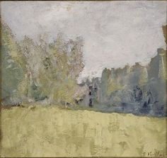 Edouard Vuillard (Fr., 1868-1940), Le pré vert, entre 1905 et 1907, huile sur toile, 21 x 22,8cm, Paris, musée d'Orsay
