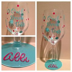 Personalized Wine Glass, Custom Wine Glass, Owl WIne Glass, Bird Wine Glass, Nature Wine Glass by GlassyGurlz on Etsy