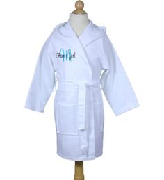 1825382f9a Personalized Flower Girl Kid s Waffle Robe with Initial