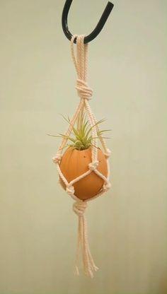 Rope Plant Hanger, Macrame Wall Hanger, Macrame Hanging Planter, Hanging Pots, Diy Crafts And Hobbies, Diy Crafts For Home Decor, Easy Paper Crafts, Hacks, Gardening