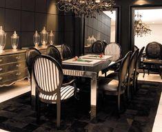 imagem de Linha Fusion: Arca Amsterdã, Mesa de Jantar Inox , Mesa Decorativa e Cadeira Medalhão