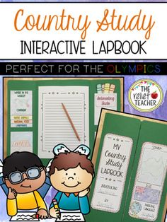 **Country Study Interactive Lapbook** Looking for a fun way to study different countries during the 2016 Rio Olympic Games? This lapbook is the perfect research project for your students to complete during the games! Relief Teacher, Fourth Grade, Third Grade, All About Me Activities, World Thinking Day, Math Problem Solving, Reading Resources, Research Projects, Interactive Notebooks