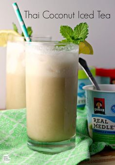 Thai Coconut Iced Tea | How To Make Thai Tea | Healthy and Easy DIY Drinks Perfect This Summer by Pioneer Settler at http://pioneersettler.com/thai-tea-recipes-refresh-summer/