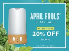 WOW - What a deal for the weekend!!   April Fools Weekend Sale- April 1st - 3rd: 20% off all diffusers.   And it gets better!! With the coupon code MHIGHLANDER you can now save 15% off your order.   If you have been looking at the diffusers - now is the time to get one or two!!   Go to www.sparknautrals.com and apply the coupon code MHIGHLANDER.   #sparknaturals #essentialoils #diffuser #sale #couponcode #save