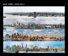 New York Now and Then - this link has some pretty fascinating photos of other 'now and then's' around the world