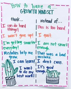 Teaching our students that attitude and mindset matter more than intelligence is a powerful thing. As educators, we have to shift our focus from things our students can't-do, to turning them … Growth Mindset For Kids, Growth Mindset Classroom, Growth Mindset Posters, Teacher Posters, Classroom Posters, Teacher Quotes, Classroom Ideas, Coping Skills, Social Skills