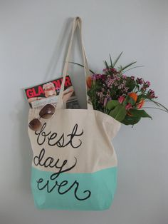 Best Day Ever Totes for Courtney by CrumpleAndToss on Etsy