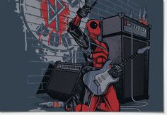 Camiseta Deadpool Band - redbug