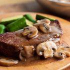Swanson(R) Pan-Seared Steaks with Mushroom Gravy Recipe - sounds delish