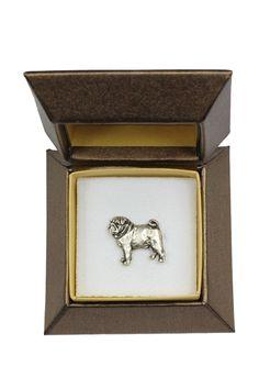 Pug- dog pin- badge- brooch- in box- casket- limited edition- ArtDog - C41293J440R - Brooches & Pins  #jewellrix #Brooches #Pins #jewelry #fashionstyle