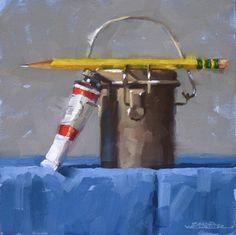 """""""Primary Focus"""" original fine art by Karen Werner"""