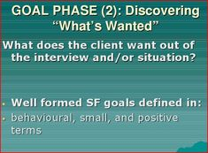 Ronald E. Warner's Tri-phase Approach for Solution-focused Therapy