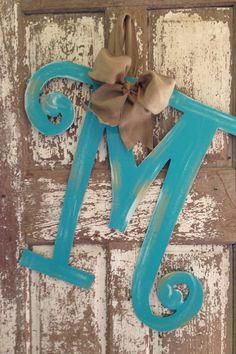 Monogrammed Wreath Hand Painted by SouthernStyleGifts on Etsy