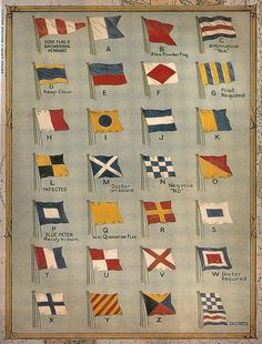 Nautical Flags, need this framed for the boathouse...
