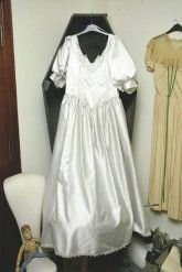 London Transport's lost property office. A wedding dress.