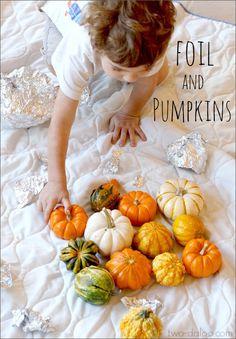 Exploring Foil and Pumpkins