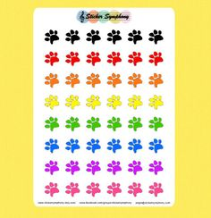 Pet Paw Planner Stickers
