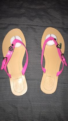 new concept b356e fa53d tory burch pink thong sandals size 9 fashion clothing shoes accessories
