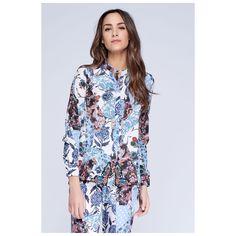 Blusa Estampado Floral Patchwork