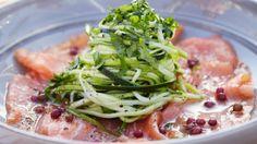 Rauwe zalm met spaghetti van courgette | Mijn Pure Keuken - Pascale Naessens