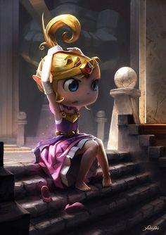 Princess Zelda . The Legend of Zelda: An Art Tribute on Character Design Served