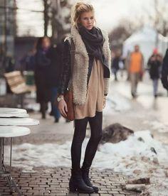 Colete pelo - perfeito para os dias super frios, onde a sobreposição de casacos é bem-vinda.