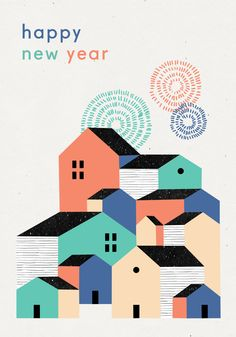 Happy New Year - Noémie Cédille x L'Affiche Moderne - Free printable card