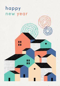 Happy New Year - Noémie Cédille x L'Affiche Moderne - Free printable card