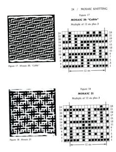 Mosaic Knitting Barbara G. Walker (Lenivii gakkard) Mosaic Knitting Barbara G… Intarsia Patterns, Fair Isle Knitting Patterns, Knitting Charts, Mosaic Patterns, Knitting Stitches, Knitting Designs, Stitch Patterns, Motif Fair Isle, Fair Isle Chart