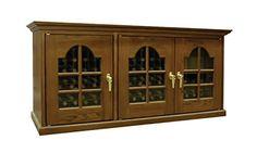 $+  Provincial 300-Model White Oak Wine Credenza with French Windows Home Kitchen Furniture Decor