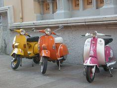 Lambretta 1963, Vespa 1985 y Vespa 1987