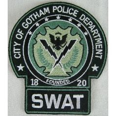 Batman City of Gotham Police Department SWAT Full Size Prop Replica Patch