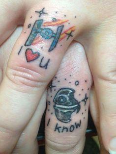 Couple Star Wars tattoo