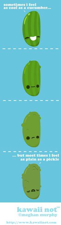 Cool As A Cucumber. (Kawaii Not Comic)