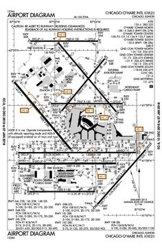 Chicago O'Hare Intl Chicago, IL (KORD): AIRPORT DIAGRAM (APD)