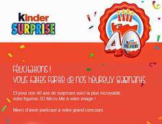 Mon blog parmi tant d'autres... Lechatmorpheus: Abracadabra : et nous voilà ! Micro me, Kinder fête ses 40 ans avec ses fans !