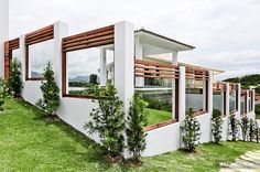 Cliente V&V. Muro e área de piscina casa em Garopaba