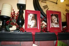 Do it yourself picture frame stocking holders