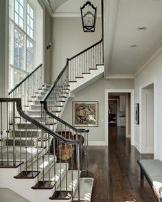 Because I can't stop looking at photos of beautiful staircases while reconstructing my own ... How gorgeous are these balusters?! | by Fraerman Associates Architecture |