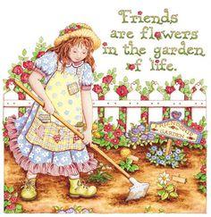 Friends and Flowers. | Friendship Garden