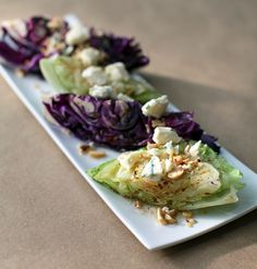 Grilled Cabbage with Hazelnut Vinaigrette and Pt. Reyes Blue