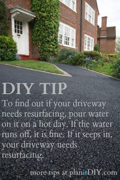 #DIY TIP: How to find out if your asphalt driveway needs resurfacing