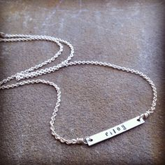 "SILVER personalized ""NAME"" necklace  on Etsy, $25.00"