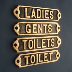 Toilet Signs LADIES and GENTS Door Signs Ceramic Pair For Shop Pub Cafe Home res
