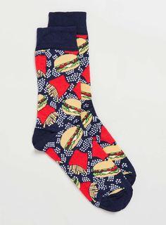 Burger And Chips Socks