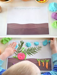 Gardening and Growing Play Dough Mats - Free Printable! picklebums.com