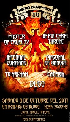 """Uncensored version of the event """"Necro Blasphemy IV""""  Bands with more extreme Metal scene of Paraguay"""
